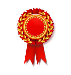 Red award ribbon certificate banner vector