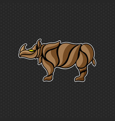 Rhino logo template design vector