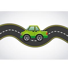 road highway vector image