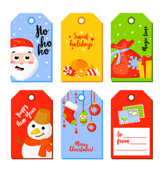 set of christmas and new year greeting cards vector image