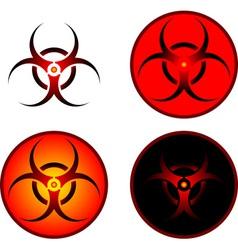 Signs bio hazard vector