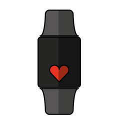 smartwatch with cardio app vector image