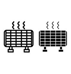 Solar battery line and glyph icon sun energy vector