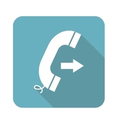 Square outgoing call icon vector image