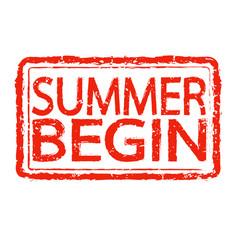 summer begin stamp text design vector image