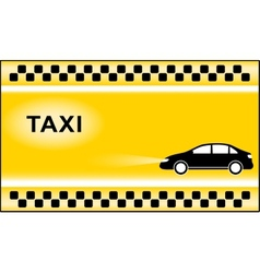Taxi background with cab symbols light vector