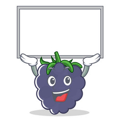 Up board blackberry character cartoon style vector