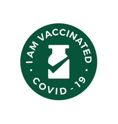Vaccine check i have got vaccinated covid19 19 vector