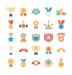 Vote and Rewards Colored Icons 1 vector