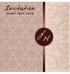 wedding invitation pattern template card celebrati vector image