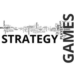 why i love strategy games text word cloud concept vector image
