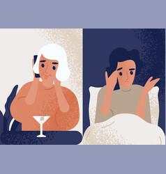 woman drinking cocktail at bar and talking vector image