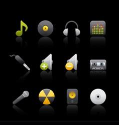 audio equipment vector image