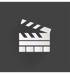 Clapperboard icon Film cinema movie symbol vector image