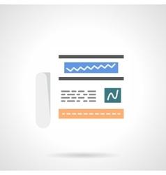 Financial analytics flat color design icon vector image