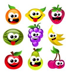 Fun Cartoon Fruits vector image