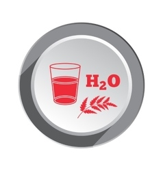 Glass of water herb and water formula icon vector image vector image