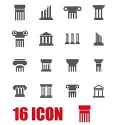 grey column icon set vector image vector image