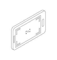 Mobile camera icon isometric 3d style vector image