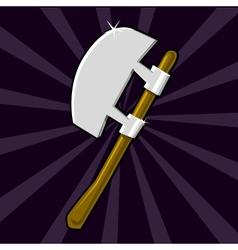 Shining poleaxe icon vector image