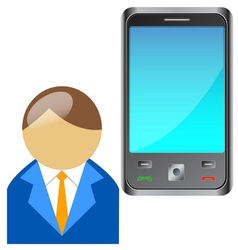 Bring Your Own Device BYOD Buddy with mobile phone vector image vector image