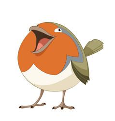 cartoon happy robin vector image