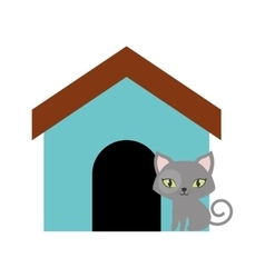 Cat breed animal mammal colored house vector