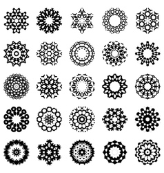 set of abstract round design elements vector image vector image
