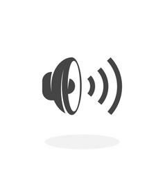 speaker icon logo on white background vector image