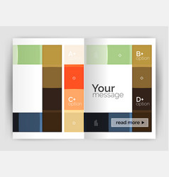 business a4 business brochure geometrical template vector image