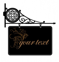 decorative sign vector image vector image