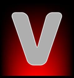 letter v sign design template element postage vector image