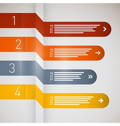 Progress steps for tutorial infographics vector image vector image