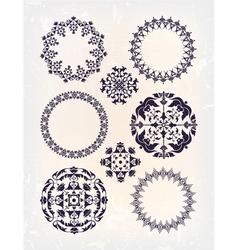 set of vintage arabic vector image vector image
