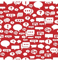 Speech bubbles pattern on red background vector image vector image