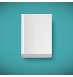 Blank book drawn in perspective vector image