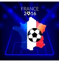 Football championship france europe 2016 vector