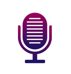microphone icon symbol of the singer music and vector image