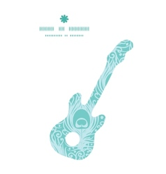 soft peacock feathers guitar music silhouette vector image vector image