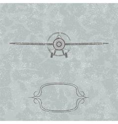 Vintage Plane background vector image vector image