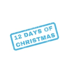 12 Days Of Christmas Text Rubber Stamp vector