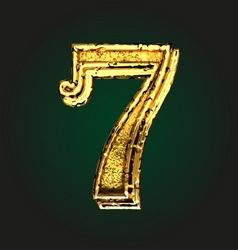 7 golden letter vector image