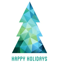 Abstract low poly Christmas tree vector image