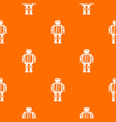 abstract robot pattern seamless vector image