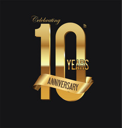 anniversary retro vintage badge 3 vector image