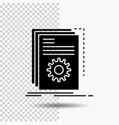 App build developer program script glyph icon on vector