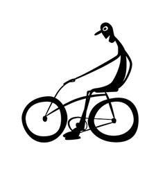 Biker vector image