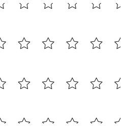 black star line seamless on white background vector image