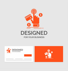 business logo template for ppc click pay payment vector image