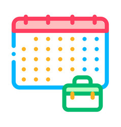 calendar and suitcase case job hunting icon vector image
